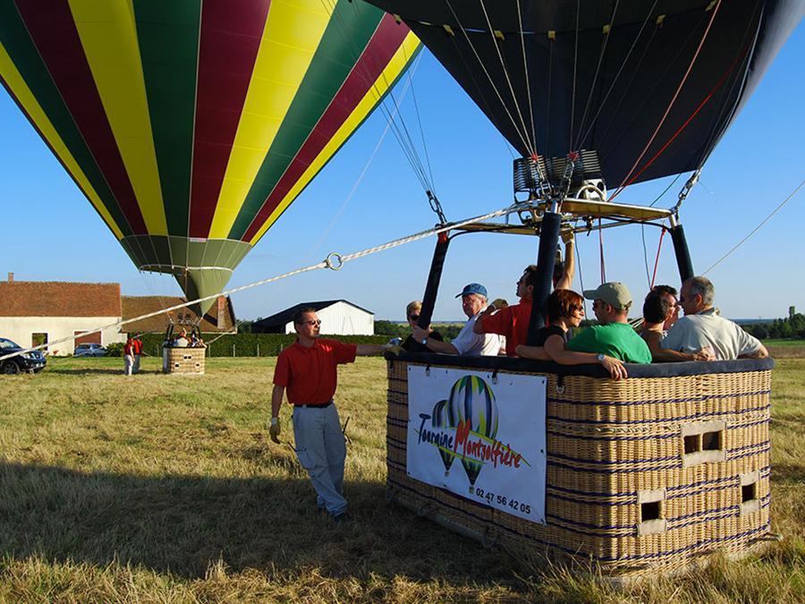 vol montgolfiere nacelle