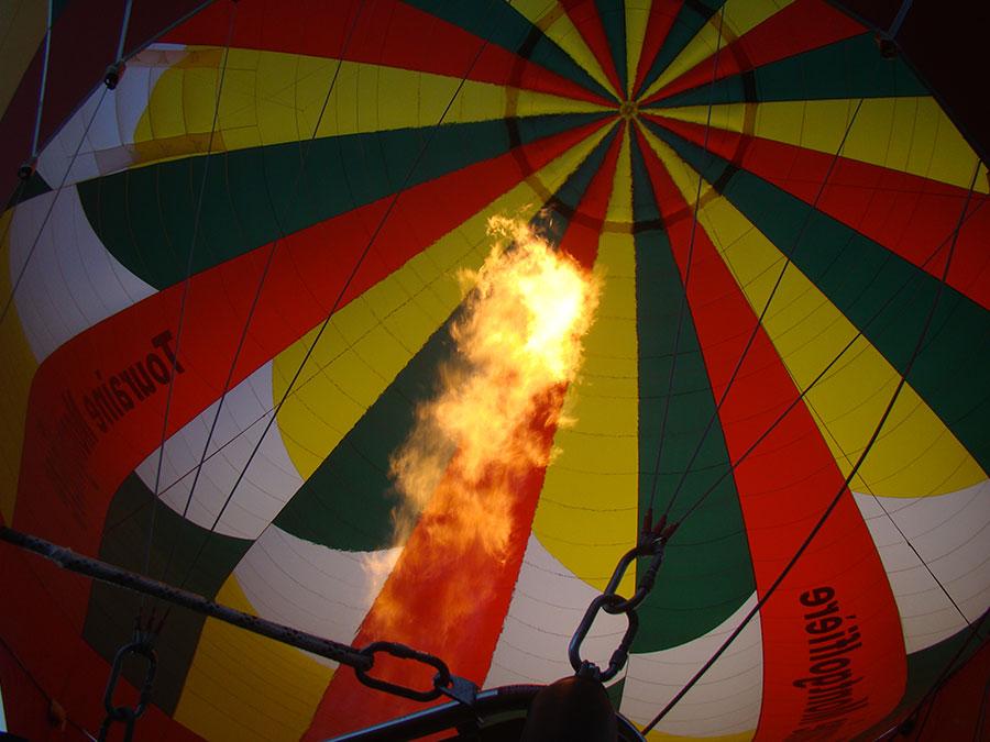 Baptemen en montgolfiere