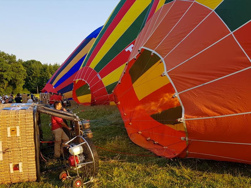organisation vol montgolfière