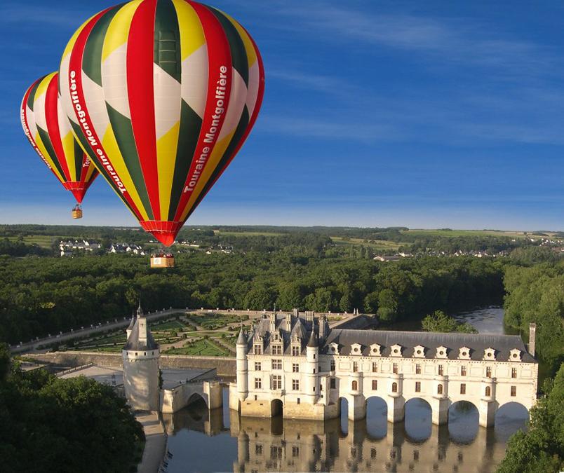 Vol en montgolfiere, Chateau de Chenoceau