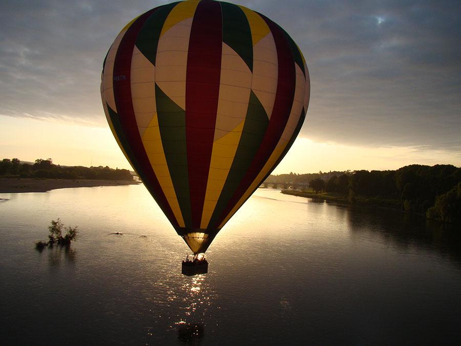 Vol montgolfière bord de Loire